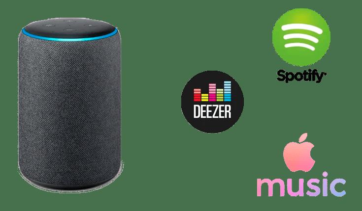 Cómo configurar y utilizar Spotify, Deezer o Apple Music en Alexa (Amazon Echo)