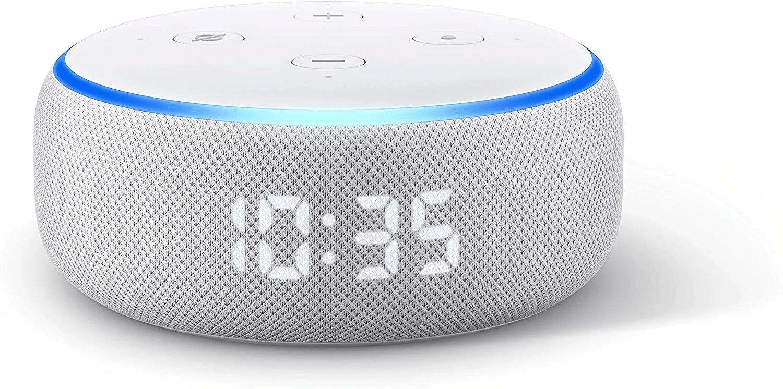Echo dot 3ª generación con reloj y sensor de temperatura