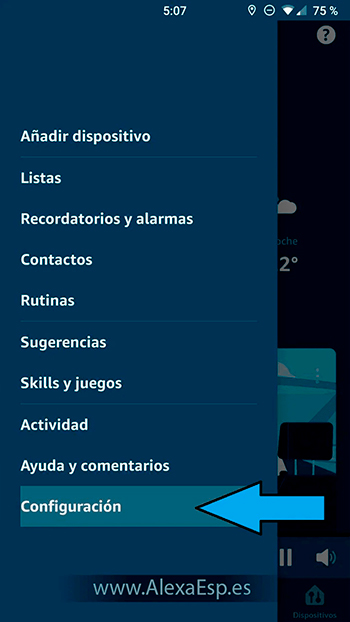 Cómo configurar y utilizar Spotify, Deezer o Apple Music en Alexa (Amazon Echo) paso 2