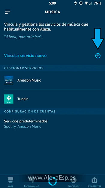 Cómo configurar y utilizar Spotify, Deezer o Apple Music en Alexa (Amazon Echo) paso 4