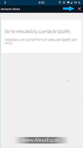 Cómo configurar y utilizar Spotify, Deezer o Apple Music en Alexa (Amazon Echo) paso 8