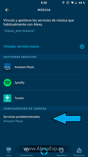 Cómo configurar y utilizar Spotify, Deezer o Apple Music en Alexa (Amazon Echo) paso